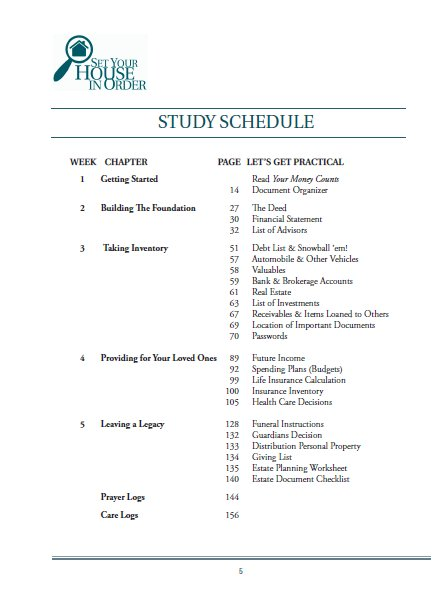 Set Your House In Order Study Guide - Compass - finances God's way