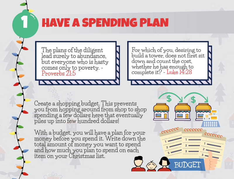 Holiday Spending Tip - Have a Spending Plan