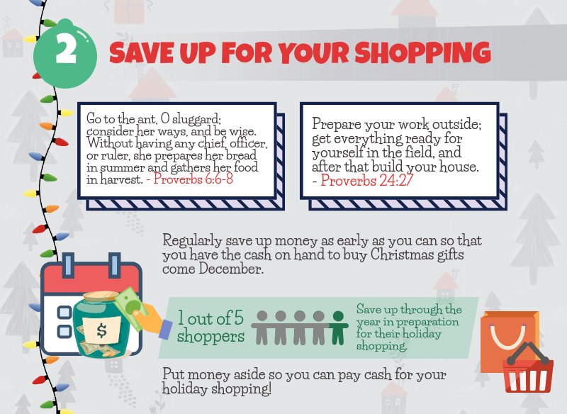 Holiday Spending Tip - Save up for your shopping
