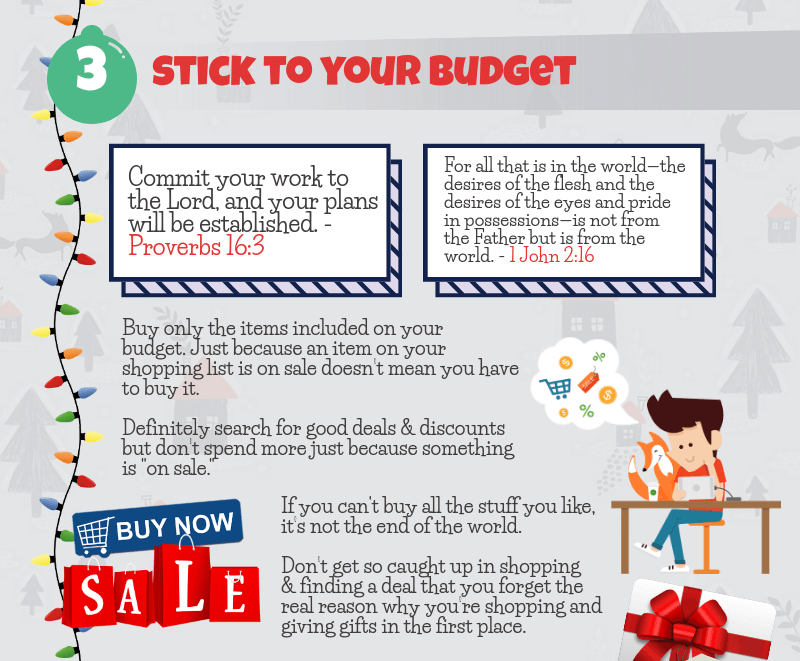 Holiday Spending Tip - Stick to your budget
