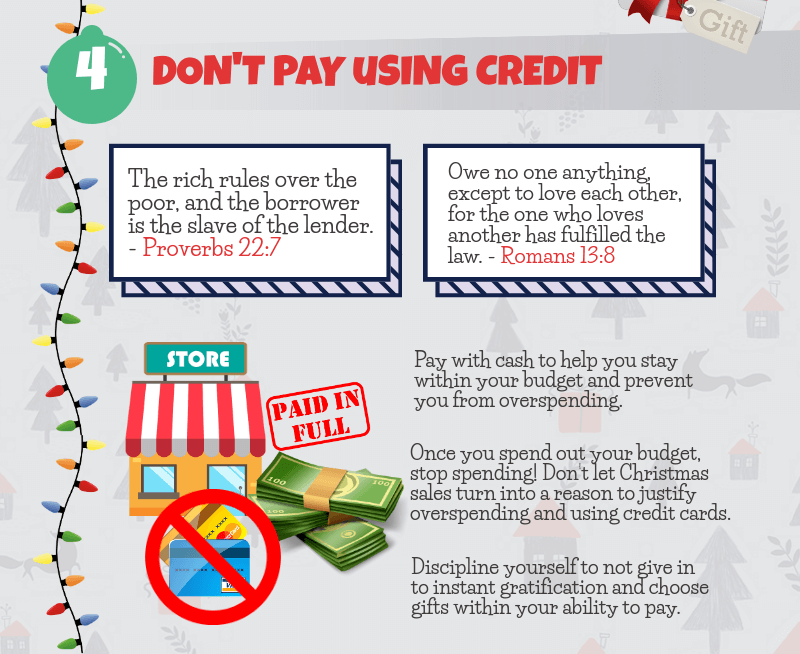 Holiday Spending Tip - Don't pay using credit card
