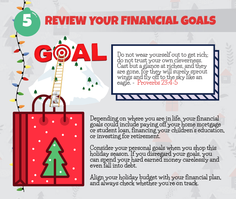 Holiday Spending Tip - Review Your Financial Goals