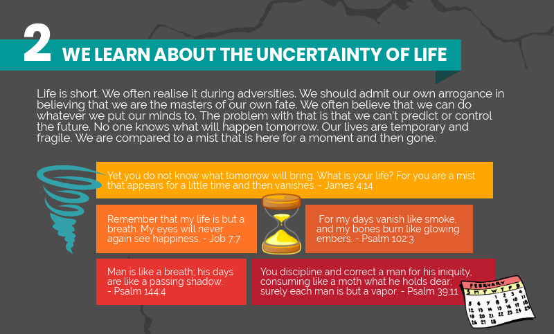 We lean about the uncertainty of life