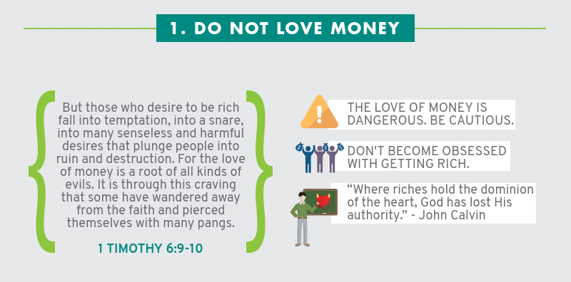 Infographic: Four Ways How Not To Handle Money - Do not love money