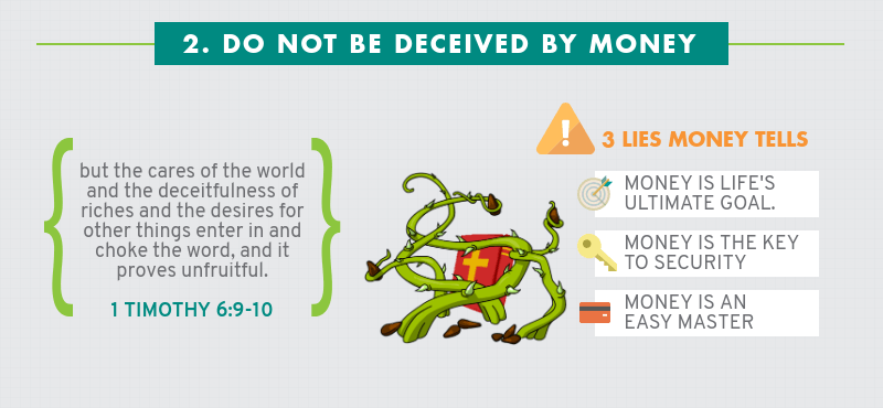 Infographic: Four Ways How Not To Handle Money - Do not be deceived by money
