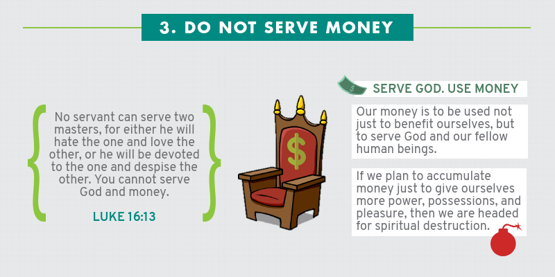 Infographic: Four Ways How Not To Handle Money - Do not serve money