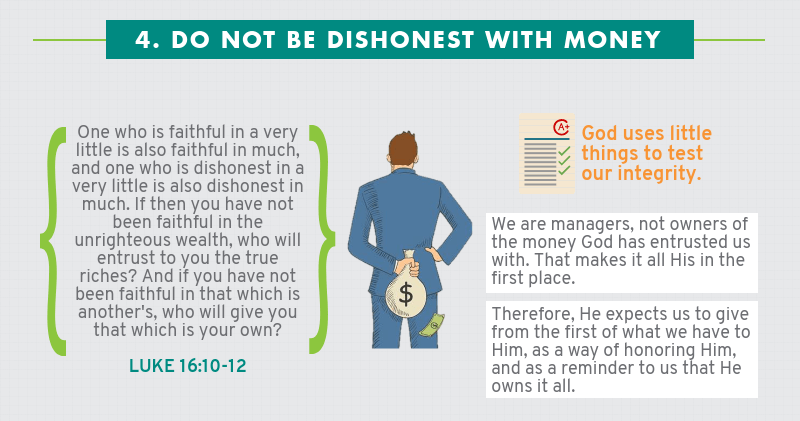 Infographic: Four Ways How Not To Handle Money - Do not be dishonest with money