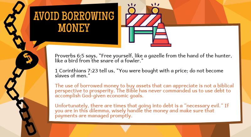 Avoid Borrowing Money
