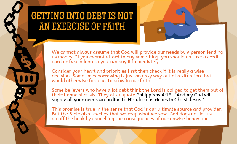 Getting into debt is not an exercise of faith