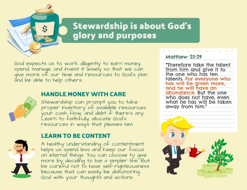 Stewardship is for God's glory and purposes