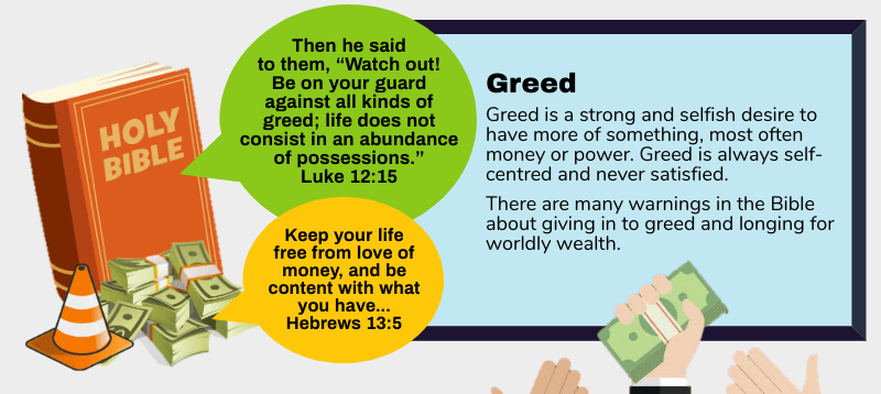 What the Bible says about greed [Infographic]