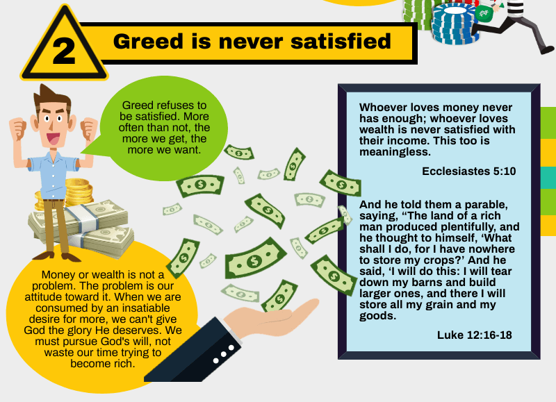 Greed is never satisfied