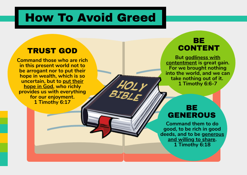 How to avoid greed [Infographic]