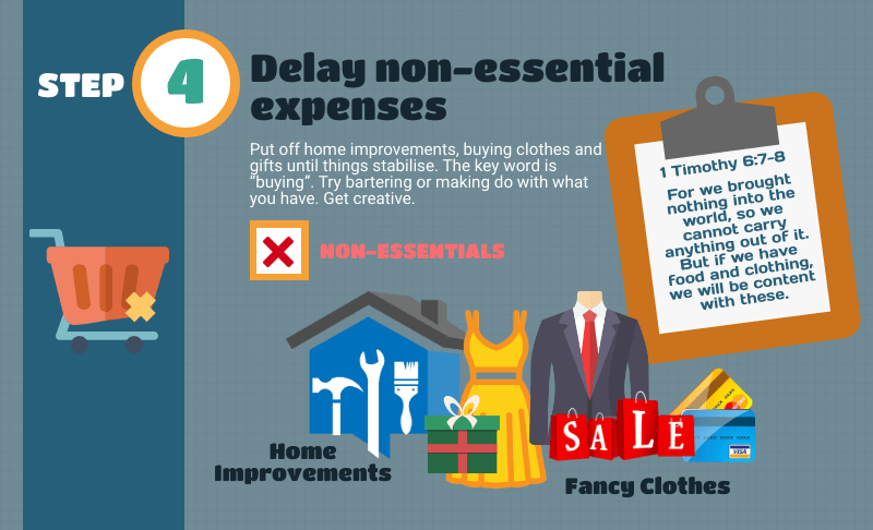How to create a crisis budget - Delay non-essential expenses
